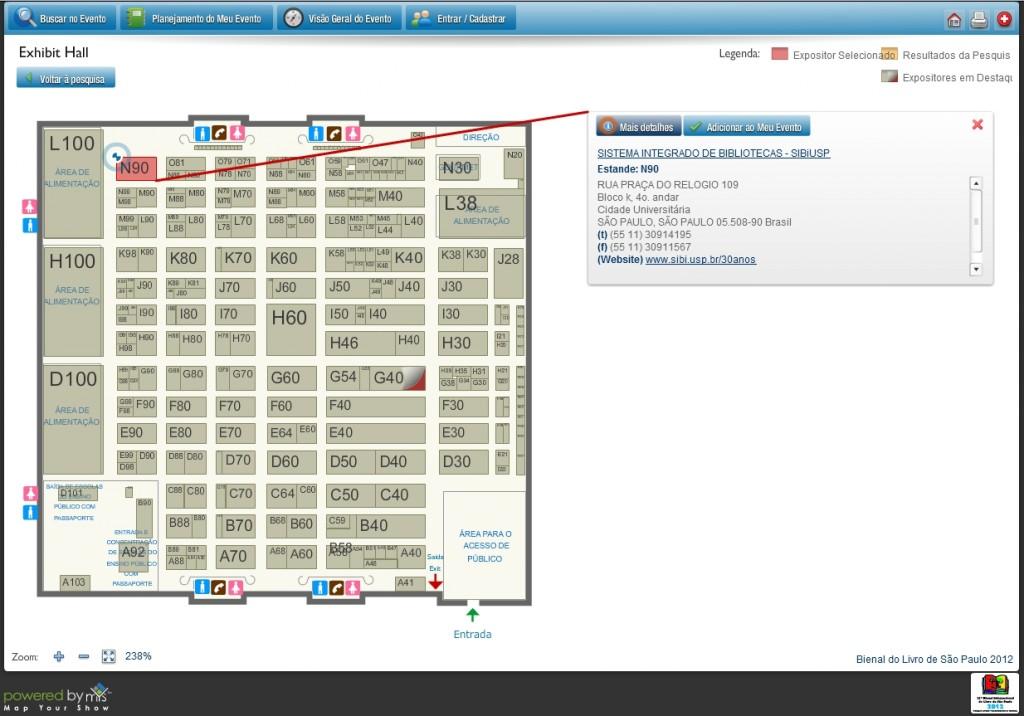 """Exposição """"Conhecimento: Custódia e Acesso"""" no Mapa da Bienal do Livro de SP"""